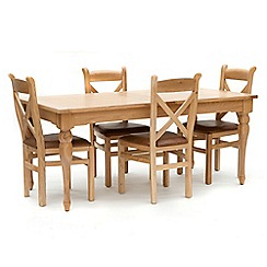 Willis & Gambier - Oak 'Worcester' large extending table and 4 chairs