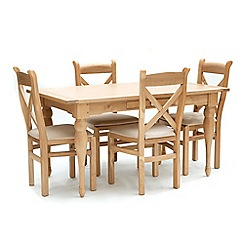 Willis & Gambier - Oak 'Worcester' fixed top table and 4 chairs