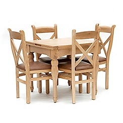 Willis & Gambier - Oak 'Worcester' flip-top table and 4 chairs