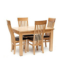 Willis & Gambier - Ash 'Denver' medium extending table and 4 chairs