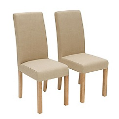 Willis & Gambier - Pair of cream 'Harlequin' upholstered dining chairs