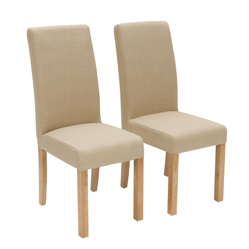 Willis gambier pair of cream 39 harlequin 39 upholstered for Cream upholstered dining chairs