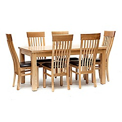 Willis & Gambier - Ash 'Denver' large extending table and 6 chairs