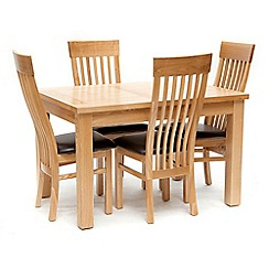 Willis & Gambier - Ash 'Denver' small extending table and 4 chairs
