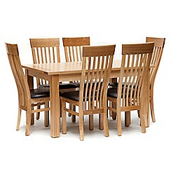 Willis & Gambier - Ash 'Denver' small extending table and 6 chairs