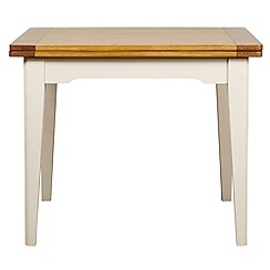 Debenhams - Oak and painted 'Wadebridge' flip-top table