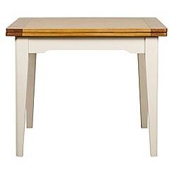 Debenhams - Oak and painted 'Wadebridge' flip-top table
