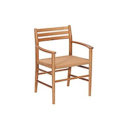 J by Jasper Conran - Oak 'Farringdon' carver chair with natural woven seat