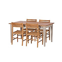 J by Jasper Conran - Oak and grey painted 'Farringdon' extending table and 4 chairs