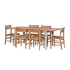 J by Jasper Conran - Oak and grey painted 'Farringdon' extending table and 6 chairs
