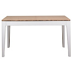 Debenhams - White-washed oak and painted 'Nord' large extending table