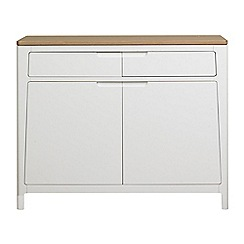 Debenhams - White-washed oak and painted 'Nord' small sideboard