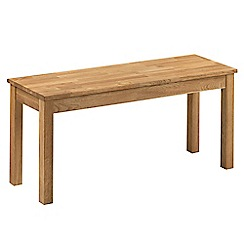 Debenhams - Oak 'Chester' bench