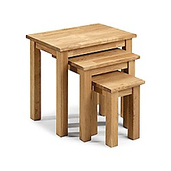Debenhams - Oak 'Chester' nest of tables