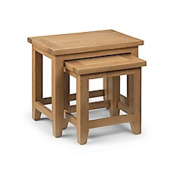 Debenhams - Oak 'Arlington' nest of tables