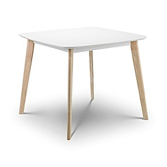 Debenhams - Oak effect and white 'Cassina' square fixed-top table
