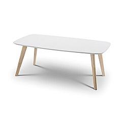 Debenhams - Oak effect and white 'Cassina' coffee table