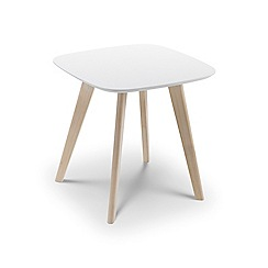 Debenhams - Oak effect and white 'Cassina' side table
