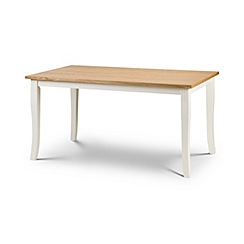 Debenhams - Oak and white 'Devon' fixed-top table