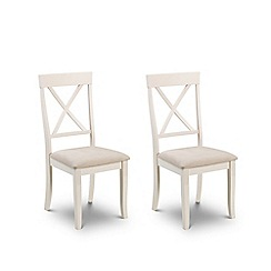 Debenhams - Pair of oak and white 'Devon' chairs