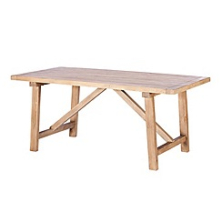 Debenhams - Reclaimed wood 'Toscana' fixed-top dining table