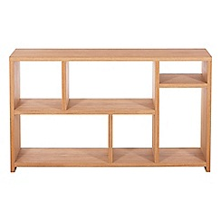 RJR.John Rocha - Oak 'Trinity' low open shelving unit