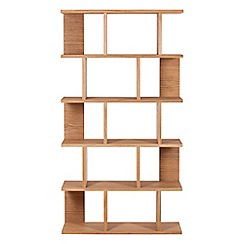RJR.John Rocha - Oak 'Trinity' open shelving unit