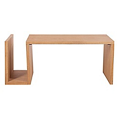 RJR.John Rocha - Oak 'Trinity' coffee table with magazine rack