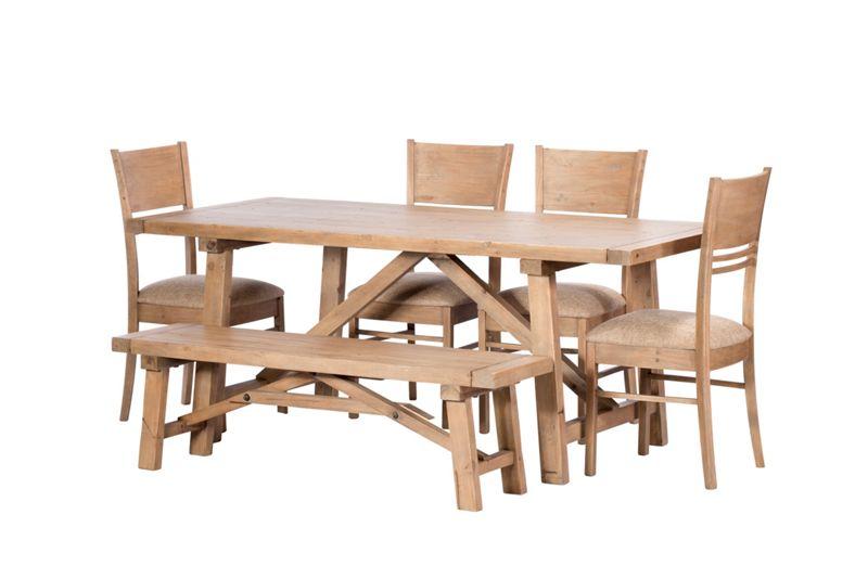 Debenhams Reclaimed wood Toscana fixed-top dining table