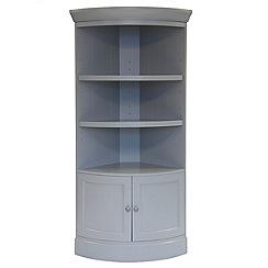 Willis & Gambier - Grey painted 'Worcester' corner shelving unit