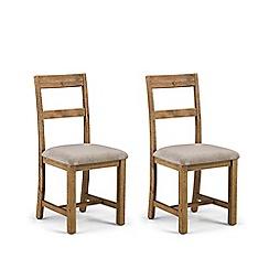 Debenhams - Pair of pine 'Whistler' dining chairs