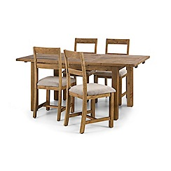 Debenhams - Pine 'Whistler' extending dining table and 4 chairs