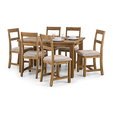 Debenhams Pine Whistler Extending Dining Table And 6 Chairs