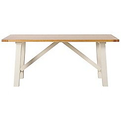 Debenhams - Acacia wood 'Wadebridge' fixed-top table
