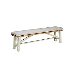 Debenhams - 'Wadebridge' bench with grey pad