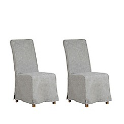 Debenhams - Pair of grey 'Wadebridge' removable cover dining chairs