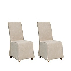 Debenhams - Pair of cream 'Wadebridge' removable cover dining chairs