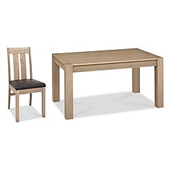 Debenhams - Oak 'Turin' medium extending table and 4 slatted back chairs
