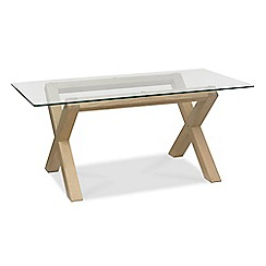 Debenhams - Oak and glass 'Turin' fixed-top table