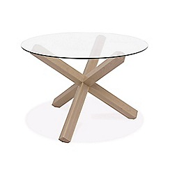 Debenhams - Oak and glass 'Turin' round table