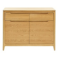 RJR.John Rocha - Oak 'Efni' light brown narrow sideboard