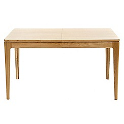 RJR.John Rocha - Oak 'Efni' light brown small extending dining table