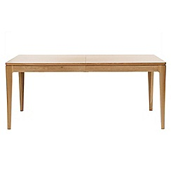 RJR.John Rocha - Oak 'Efni' light brown large extending dining table