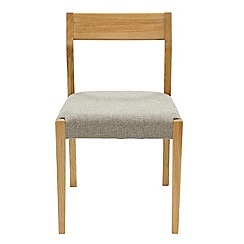RJR.John Rocha - Pair of oak 'Efni' chairs with light grey seat pads
