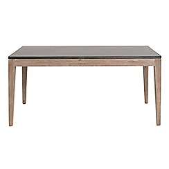 Willis & Gambier - Faro' small concrete effect dining table with wooden base