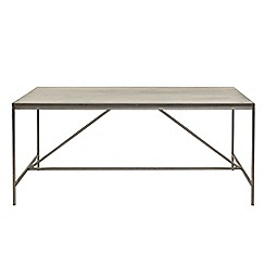 Willis & Gambier - Faro' large concrete effect dining table with metal base