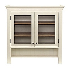Willis & Gambier - Oak top 'Newquay' small glazed hutch