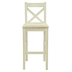 Willis & Gambier - Pair of white painted 'Newquay' bar stools