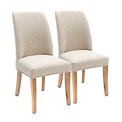Willis & Gambier - Pair of beige percy dining chairs