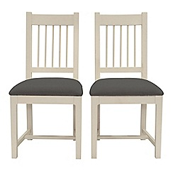 Willis & Gambier - Pair of 'Newquay' spindle back dining chairs with grey fabric seats